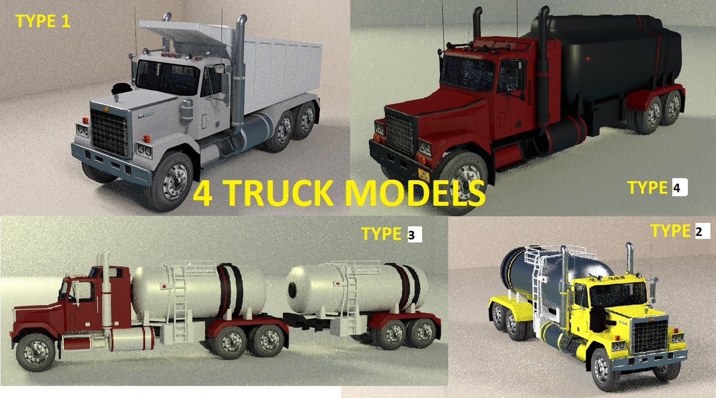 truck dump tanker 3d model