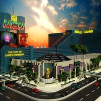 mgm grand building las vegas 3d model