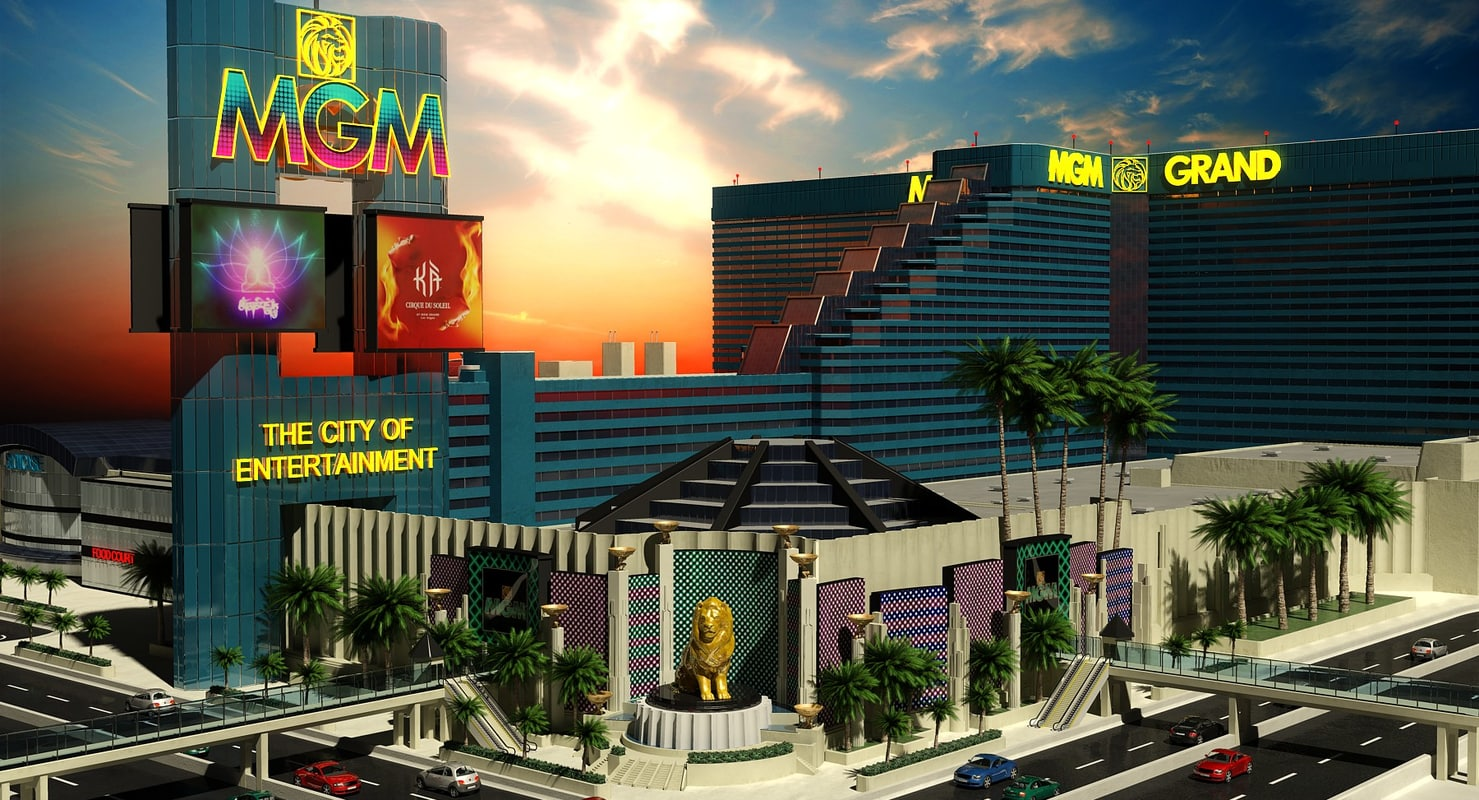 mgm grand building las vegas 3d dxf