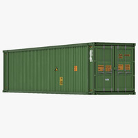 3d model 45 ft cube container