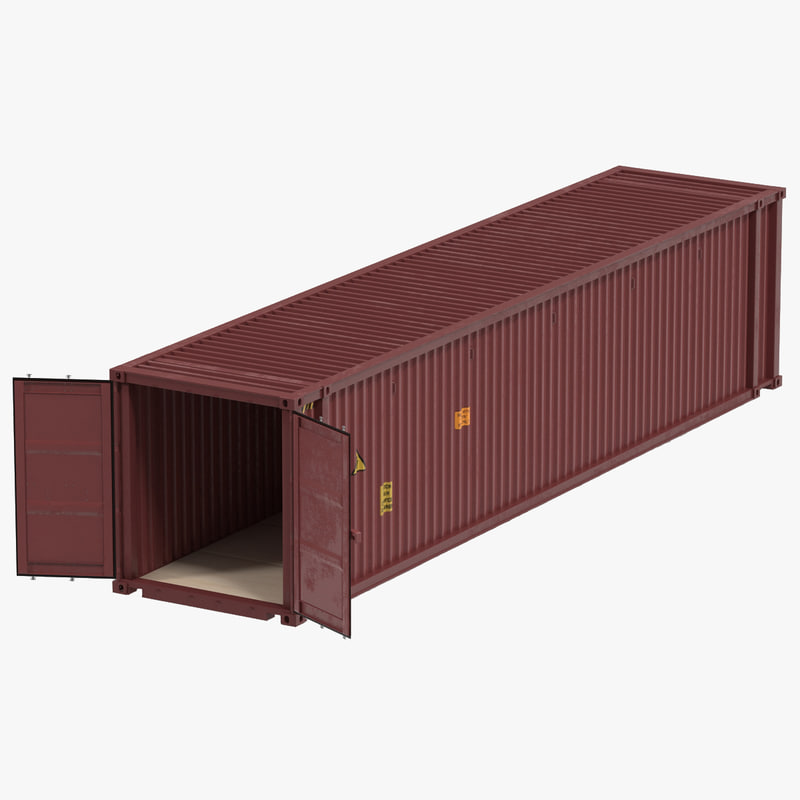 45 Ft Cube Container 3d Model