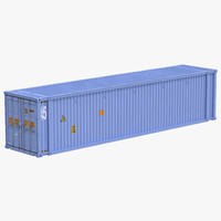 3ds max 45 ft container blue