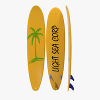 Surfboard Longboard 3 3D Model