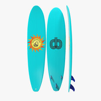 3d surfboard longboard 4 model