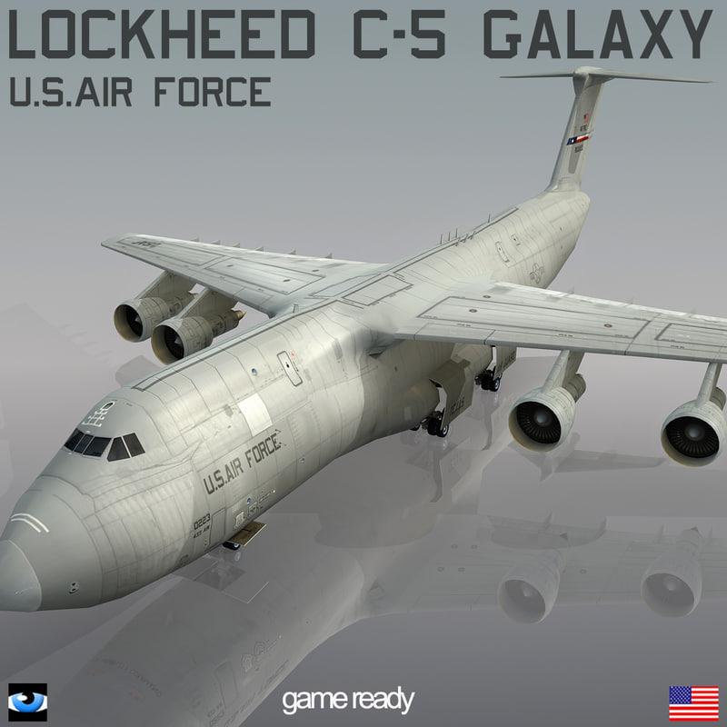 lockheed c-5 galaxy obj