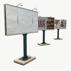 obj ready low-poly billboard 48