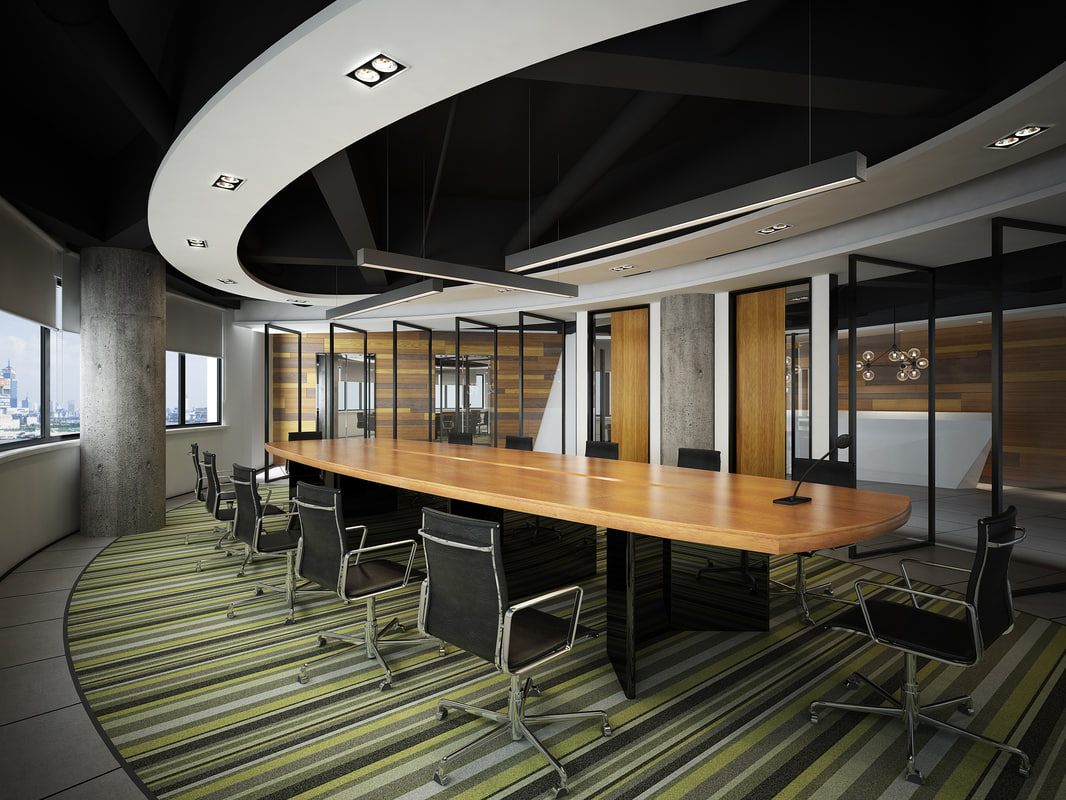 modern meeting room 3d model