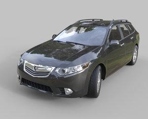 3d model acura tsx wagon 2015