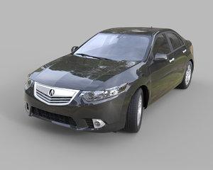 3d max acura tsx sedan
