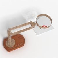 3d model magnifier lamp