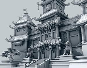 3d model ready fantasy castle lite