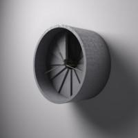 wall concrete clock 3d model