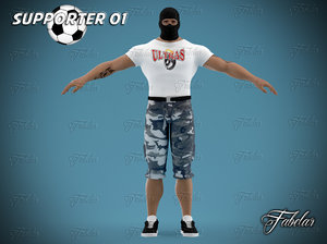 supporter character unity 3d 3ds