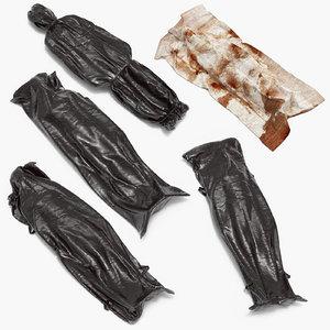 3d model corpses body bags dead