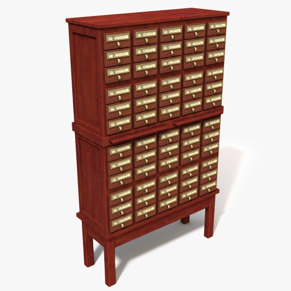 3d 3ds storage cabinet catalog cards