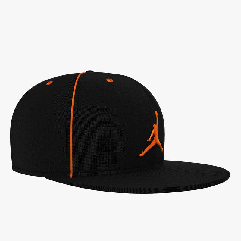 4e52adf6d2a 3d model baseball cap air jordan