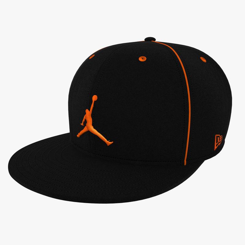 3d model baseball cap air jordan