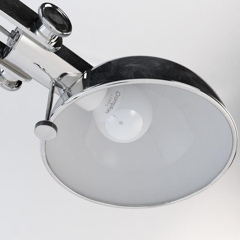 3d model of floor lamp -