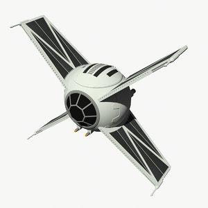 3d model tie raptor