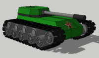 3ds max russian tank