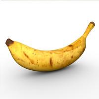 3d model dessert banana fruit