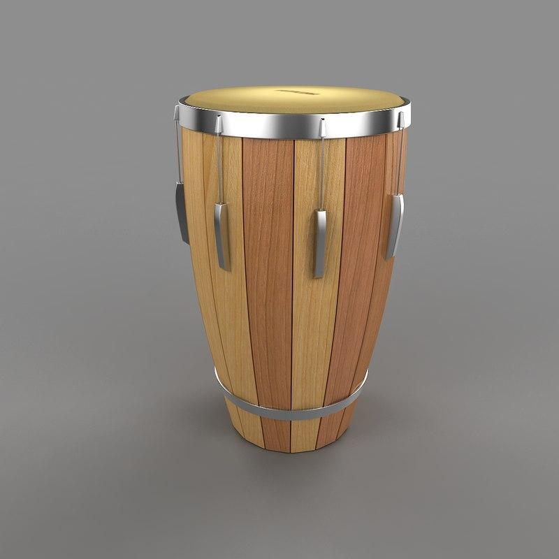 3d model of drum
