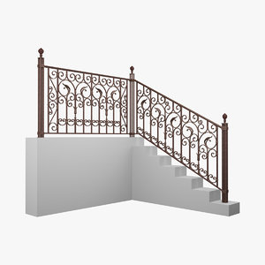 3dsmax highpoly forged railing