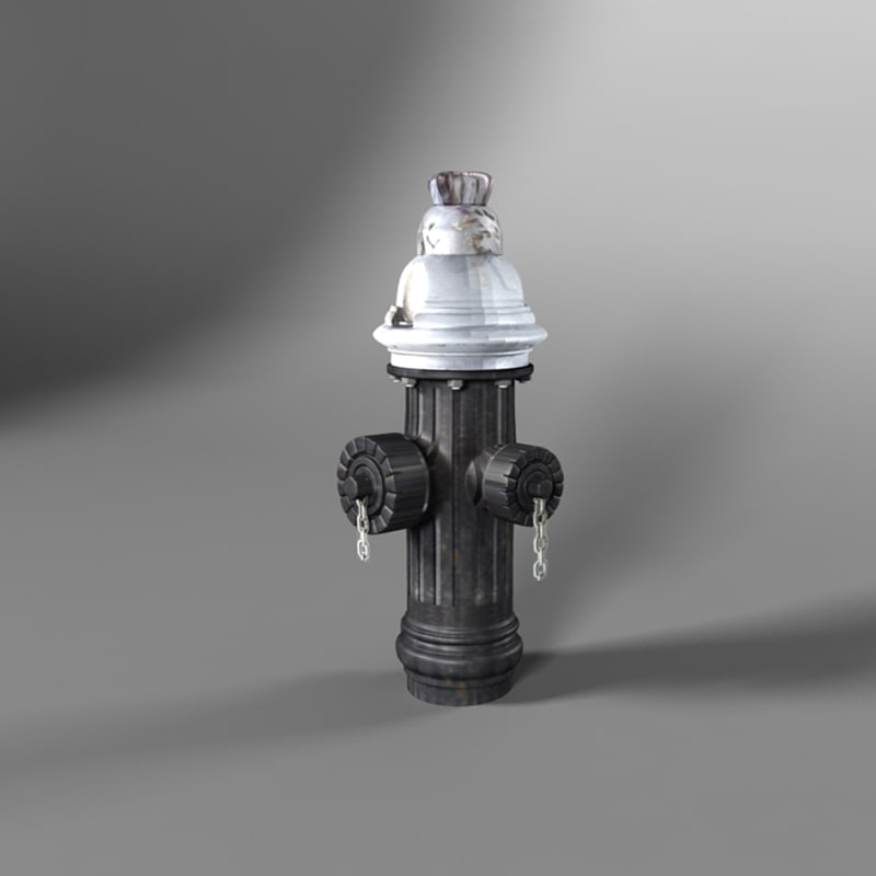 3d model new york hydrant
