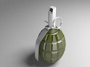 3d model grenade f 1