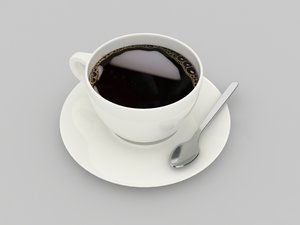 3d coffee instant model