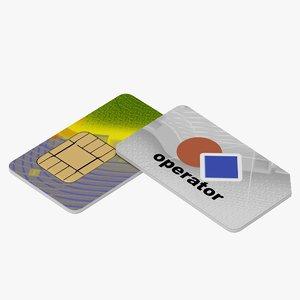 3d model sim card
