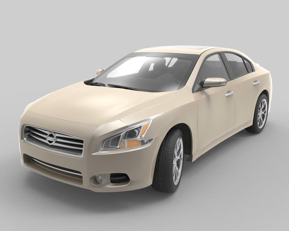 nissan maxima sedan 2014 3d model