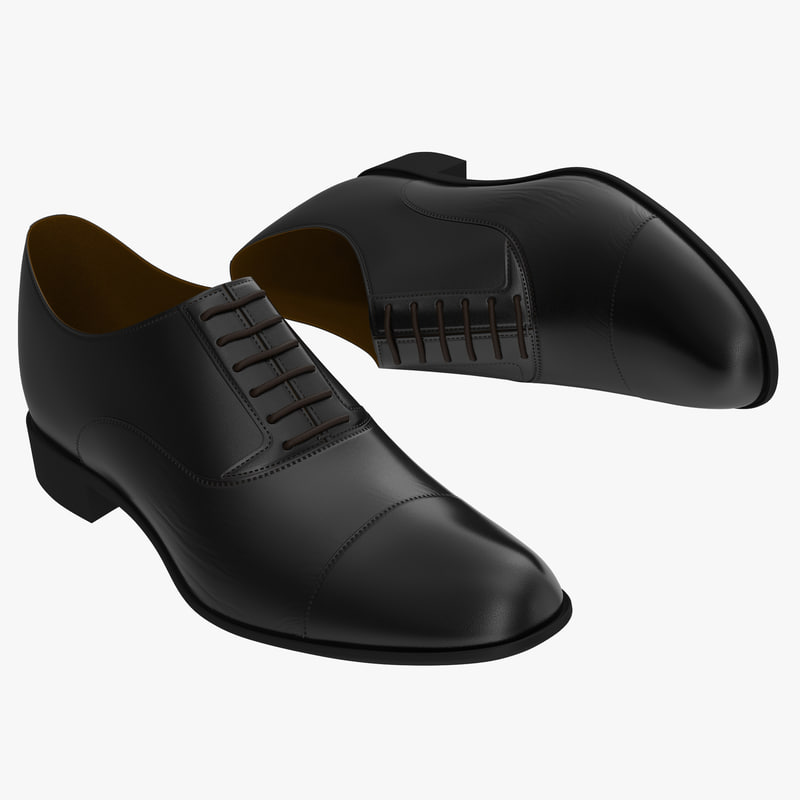 3d man shoes 2 black