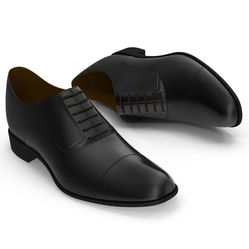 3d man shoes 2 black