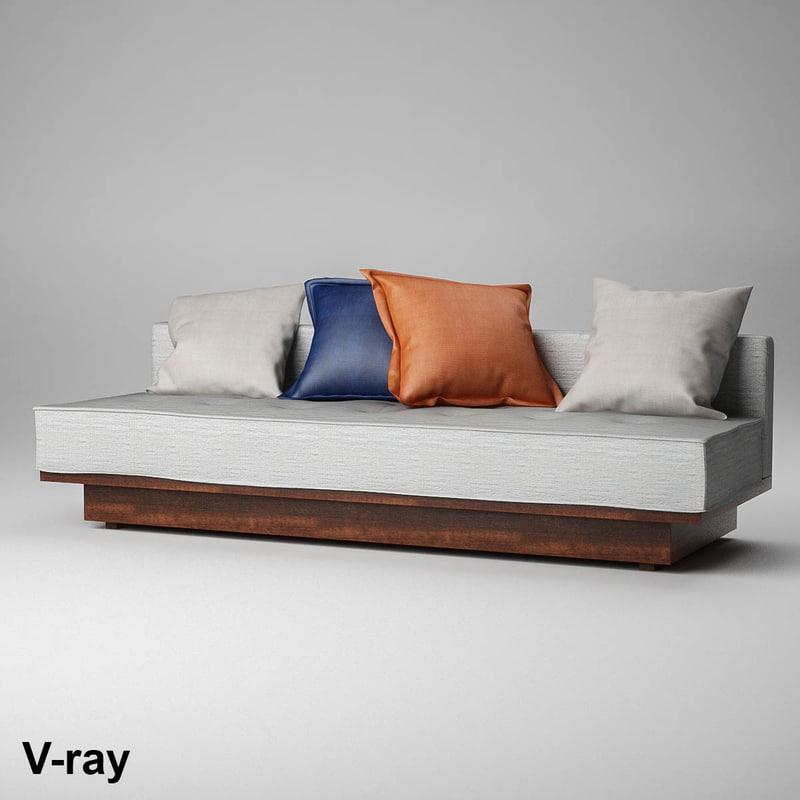 sofa pillow 3d model