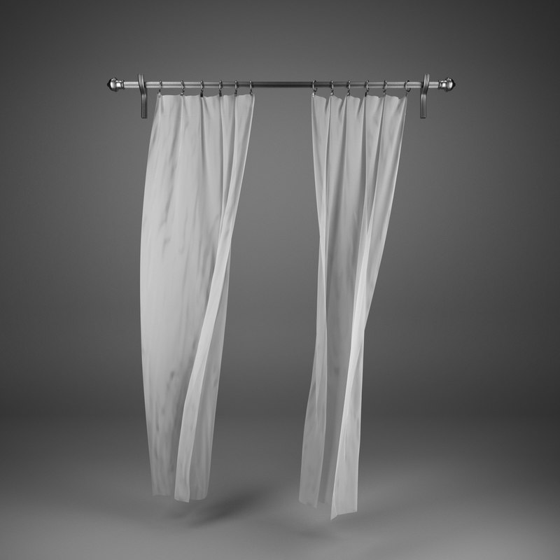 3d max curtains wind