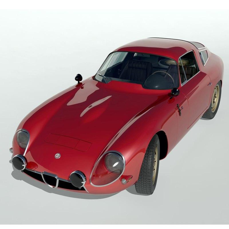 3d alfa romeo tz1 model