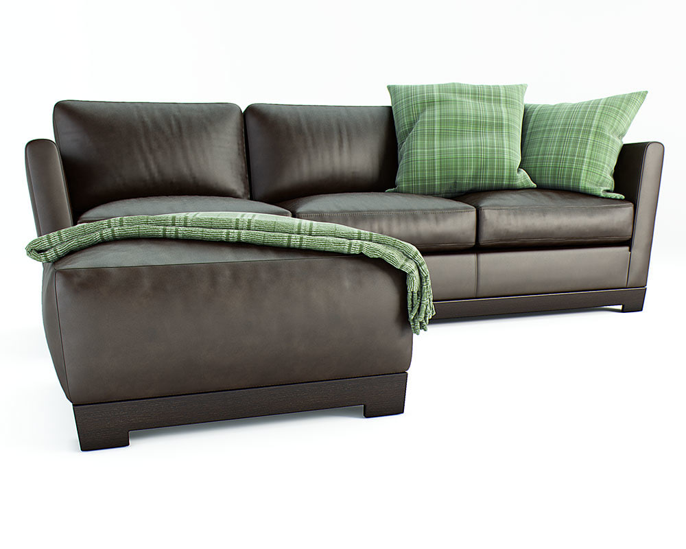 3d sofas wood polyurethane model
