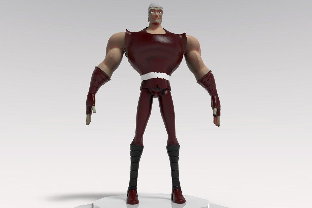 3d action character cartoon model