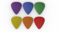3ds max tortex guitar picks