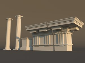 doric architectural 3d model