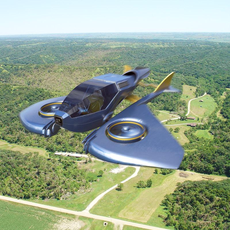 airship hologram cockpit 3d model