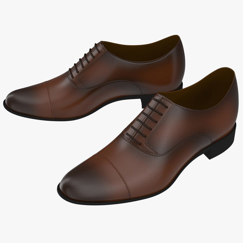 man shoes 2 3d model