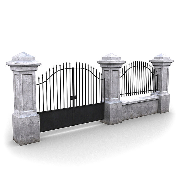 3d model fencing pack wall