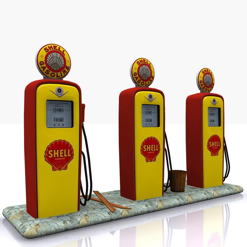gas pump shell 3ds