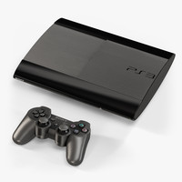 3d model sony playstation 3 super