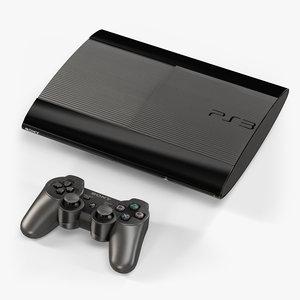 3d model sony playstation 3 super