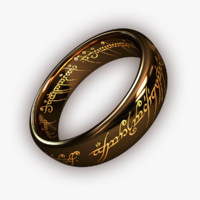 free ring artefact tolkien 3d model