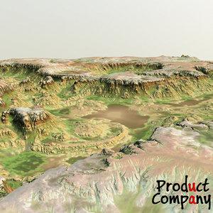 maya canyon cliffs terrain