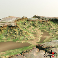 hills cliffs terrain 3d model